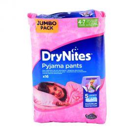 Huggies Drynites 4-7y Jumbo Girl-16 pieces
