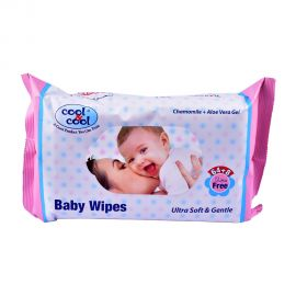 Cool & Cool Baby Wipes 64+8