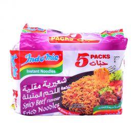 Indomie Spicy Beef Flavour Fried Instant Noodles 75g x 5pcs