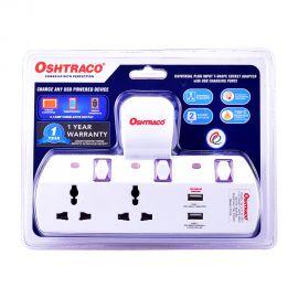 Oshtraco 2 Way M/socket+2usb Port