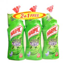 Harpic Toilet Cleaner Liquid Active Fresh Pine 750mL(2+1)