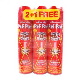 Pif Paf - Mosquitoes & Fly Killer Aerosol 400mL 2+1free