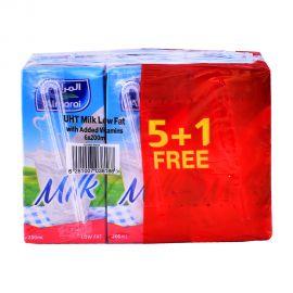 Almarai Milk Low Fat 200ml (5+1F)