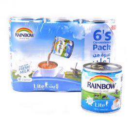 Rainbow Milk Evaporated Lite 6x170gm Value pack
