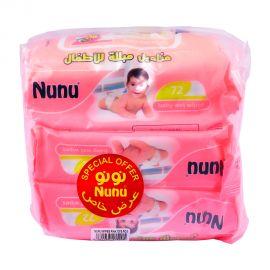Nunu Baby Wipes 72s (2+1F)