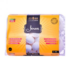 Jenan Egg White 6 Pieces Large Flip Top
