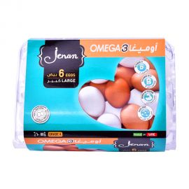 Jenan Egg Brown (Omega 3) Large 6 Pieces