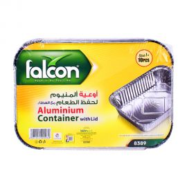 Falcon Aluminum Container With Lid 10pcs
