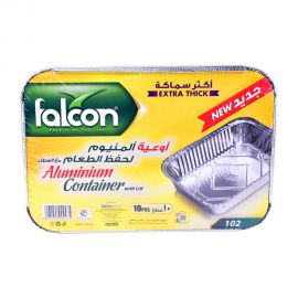 Falcon Aluminum Container 10p With lid