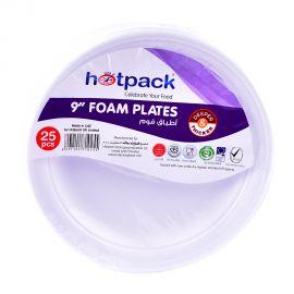 """Hotpack-Round Foam Plate 9"""" 25pcs"""