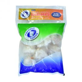Freshly foods Jumbo Shrimps cooked, Peeled & Deveined,Tail On 500g