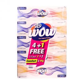 Wow Comfort Facial Tissue 150x2ply 4+1fr