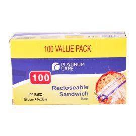 Platinum Care Sandwich Bag 100's (16.5x14.9Cm)