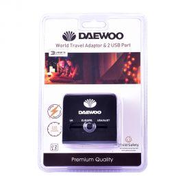 Daewoo World Travel Adaptor&2Usb port613
