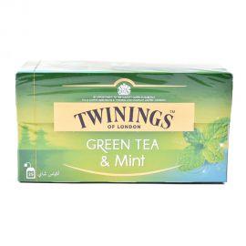 Twinings G/Line Green Tea Bag Mint 25's