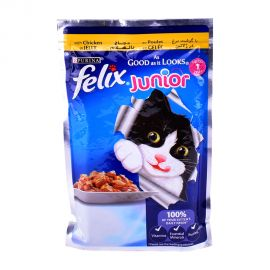 Purina Felix Junior As Good as it Looks Chicken Wet Cat Food Pouch 100gm