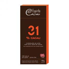 ESPIRITO 31% CACAU MILK CHOCOLATE 80GM