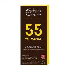 ESPIRITO 55% CACAU SEMISWEET CHOCO 80GM