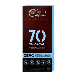 ESPIRITO 70% CACAU ZERO SUGAR CHOCO 80GM