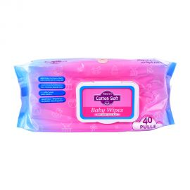 Natures Cotton Soft Sensitive Baby Wipes 40's