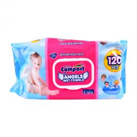 Ultra compact Angel Baby Wet Wipes 120pc