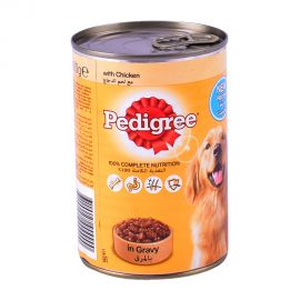 Pedigree Chicken Chunks in Gravy-Wet Dog Food Can 400gm