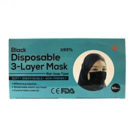 FACE MASK BLACK DISPOSABLE