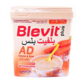 Blevit Ad+ Gluten free Cereals Carrot&Rice 250gm