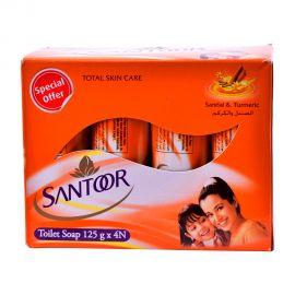 Santoor Soap Pink 125gm (3+1F) sandal & turmeric