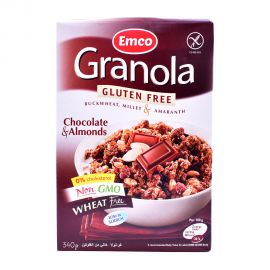 Emco Granola Gluten free with Choco&Almond 340gm