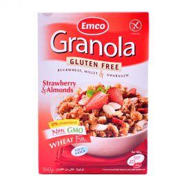 Emco Granola Gluten free with StrawBerry&Almond 340gm