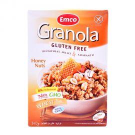 Emco Granola Gluten free with Honey & Nuts 340gm