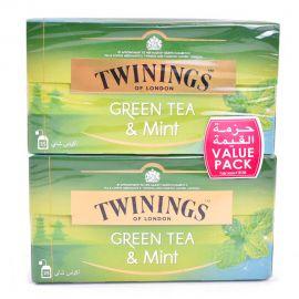Twinings of London Green Tea Assorted 2x25's