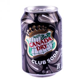 CANADA DRY CLUB SODA TIN 300ML
