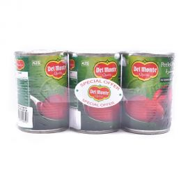 DEL MONTE PEELED TOMATOES 3x397GM