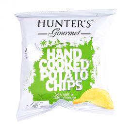 Hunter's  Gourmet Hand cooked Sea salt & cider vinegar Potatochips 40gm