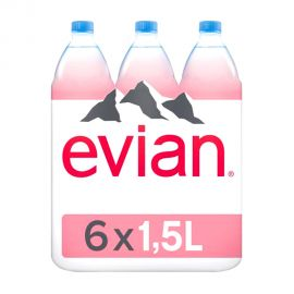 EVIAN MINERAL WATER 1.5LTR (4+2FREE)
