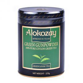 Alokozay Tea Gun Powder Tin 225gm