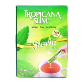 Tropicana slim Stevia sweetener 100 Stick pack