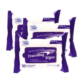 Cool N Cool Travelling Wipes 30s (2+1)