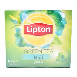 LIPTON GREEN MINT tea bags 100x1.5GM