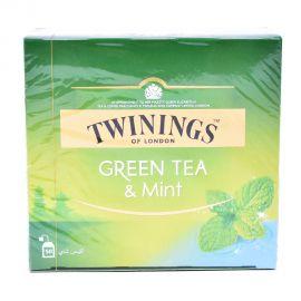 TWININGS GREEN TEA+MINT tea bags50'S
