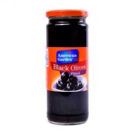 American Garden Black Olives Pitted 450gm