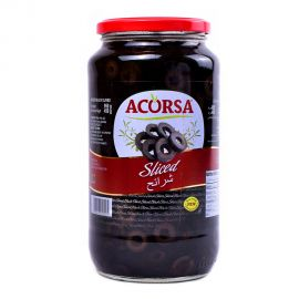 ACORSA OLIVE BLACK SLICED 450GM