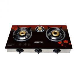 GEEPAS S/Steel 3Gas Burner