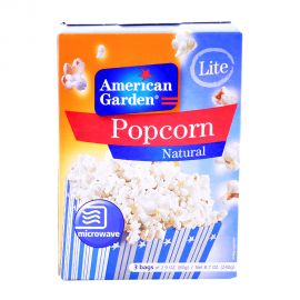 American Garden Microwave Popcorn Light Natural 3x2.9oz