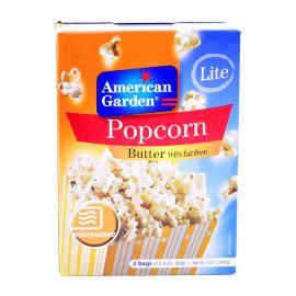 American Garden Microwave Popcorn Light Butter 3x2.9oz