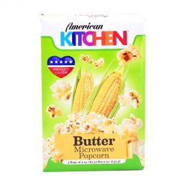 American Kitchen Microwave Popcorn Butter 3x3oz