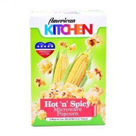 American Kitchen Microwave Popcorn Hot&spicy 3x3oz