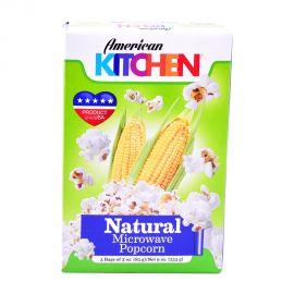 American Kitchen Microwave Popcorn Natural 3x3oz